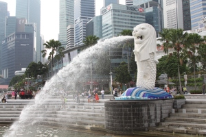 The famous Merlion statue